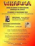 Stage de danse et percussions le 17/11/12 à Bourg dans Stages novembre-2012-112x150