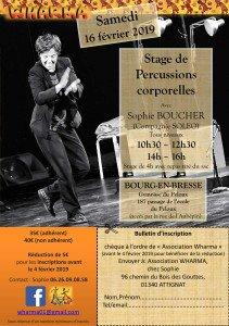 Stage de percussions corporelles le 16/02/2019 à Bourg-en-Bresse dans Stages stage-percu-corpo-1-211x300