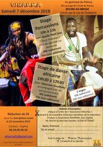 Stage de danse et percussions le 7/12/2019 à Bourg-en-Bresse dans Evenements stage-decembre-2019-pdf-211x300